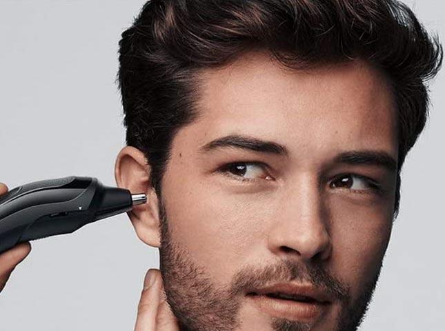 Tondeuse cheveux, barbe, nez et oreilles